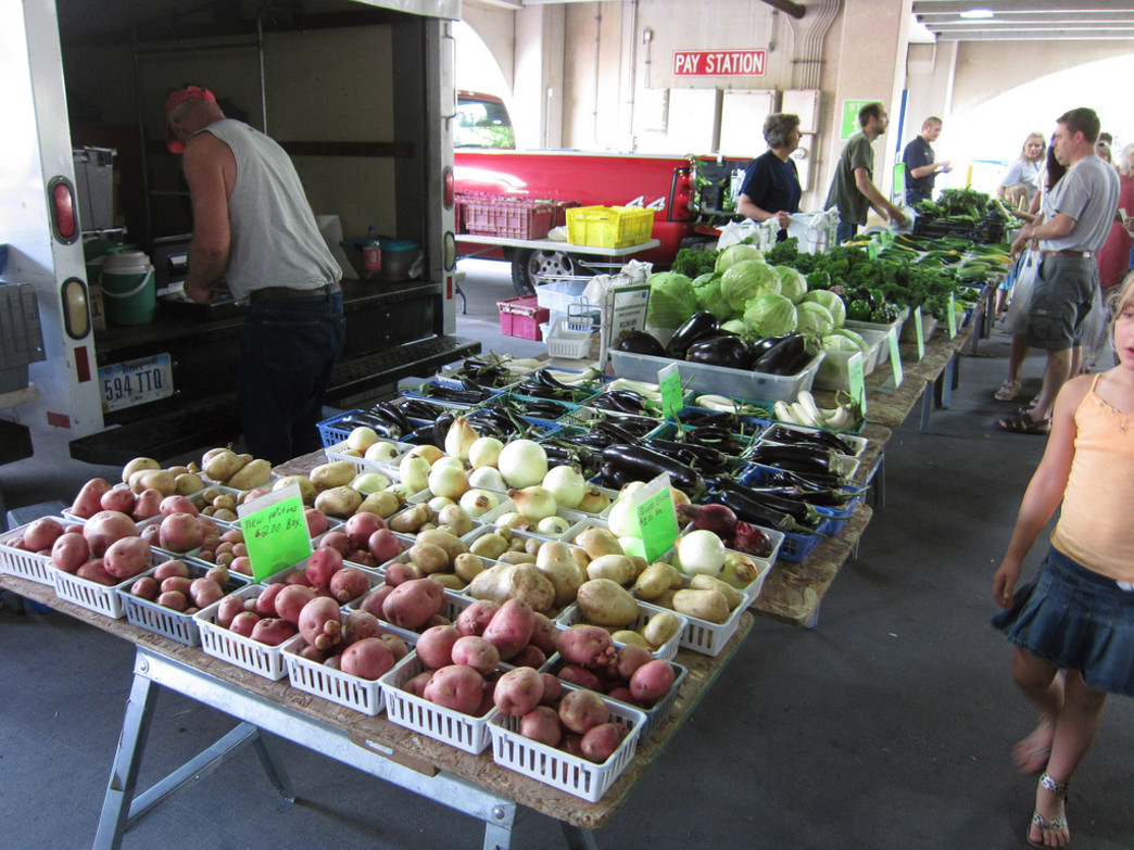 The Iowa City Farmer's Market offers plenty of fresh produce every week.