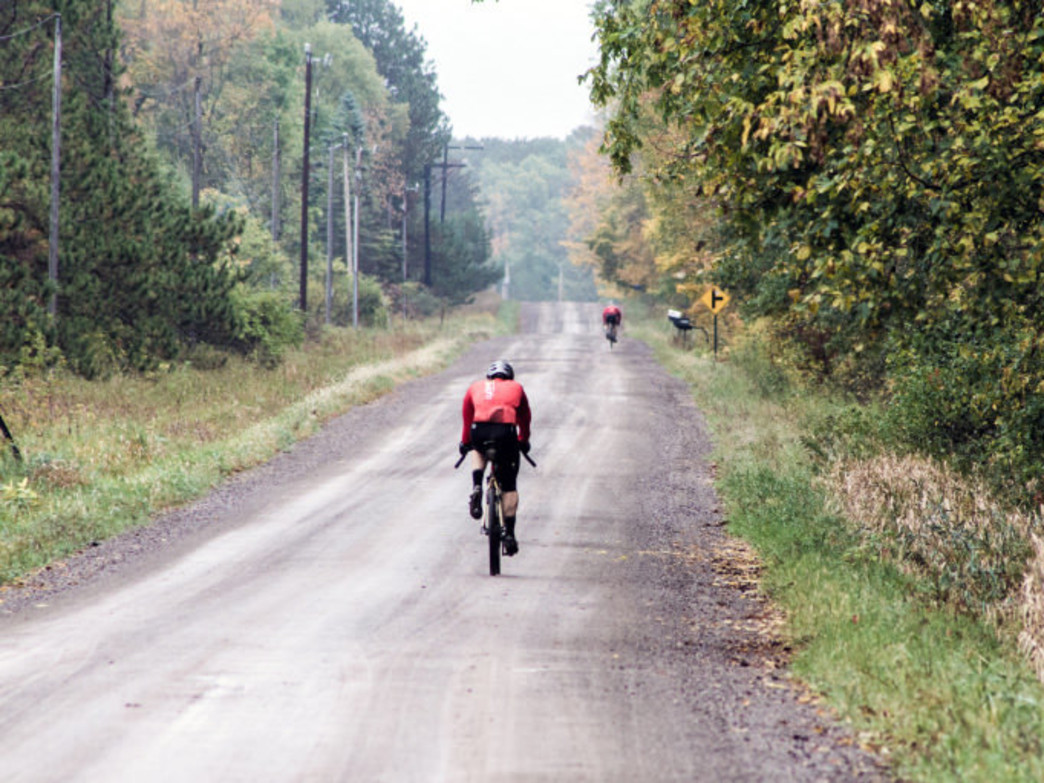 Riders in the unobstructed stretches of rural Wisconsin, courtesy of John Schletty