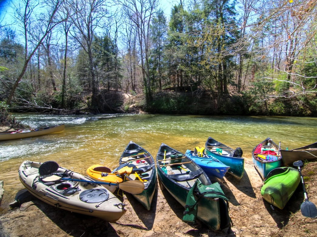 Clear Creek offers plenty of paddling opportunities.