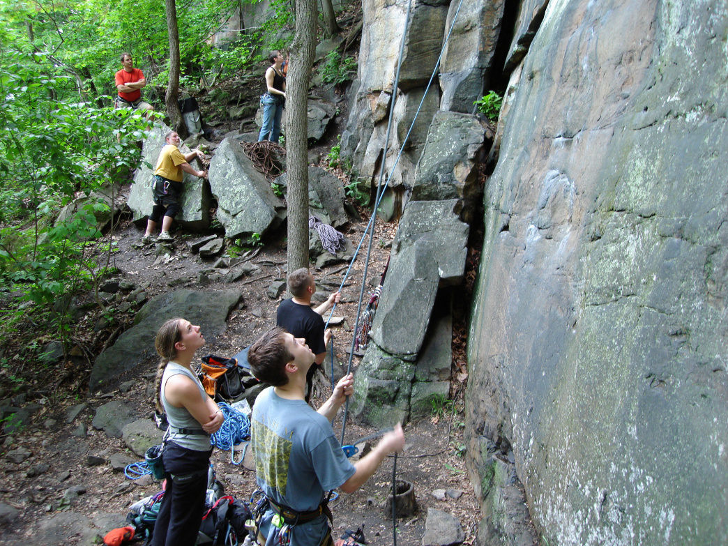 Climbing at the New River Gorge.