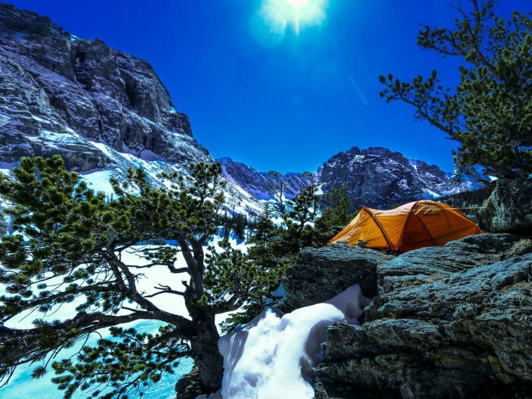 Rocky Mountain National Park in winter comes with sublime camping opportunities.
