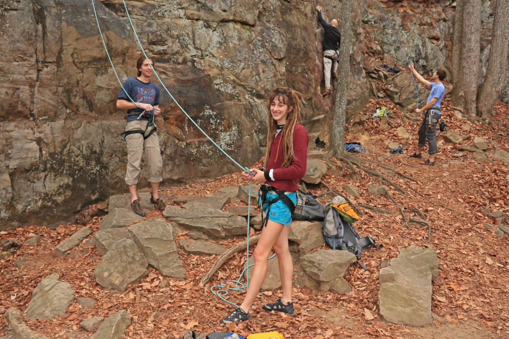 Foster Falls is one of the most scenic climbing destinations in the area.