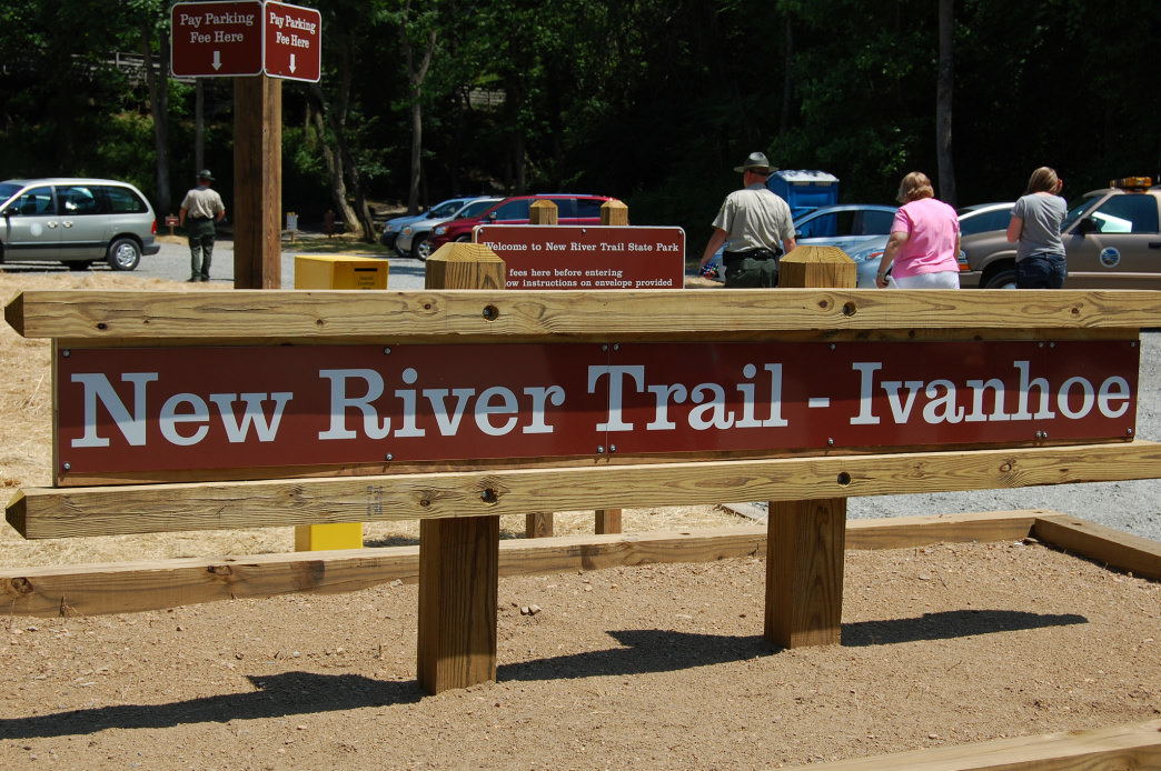 The New River Trail is 57 miles of smooth cycling.