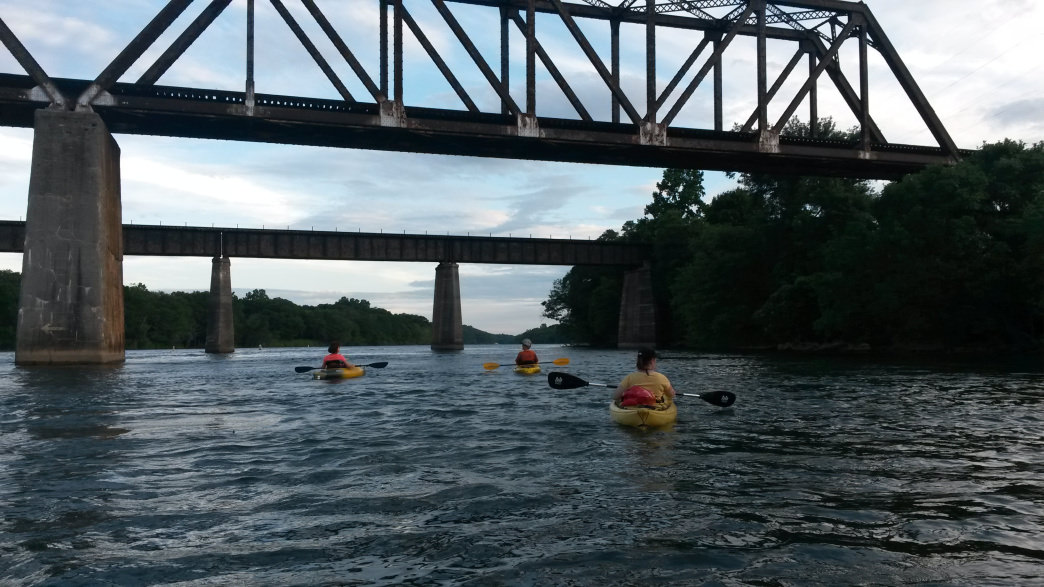 Paddling on the Catawba River.