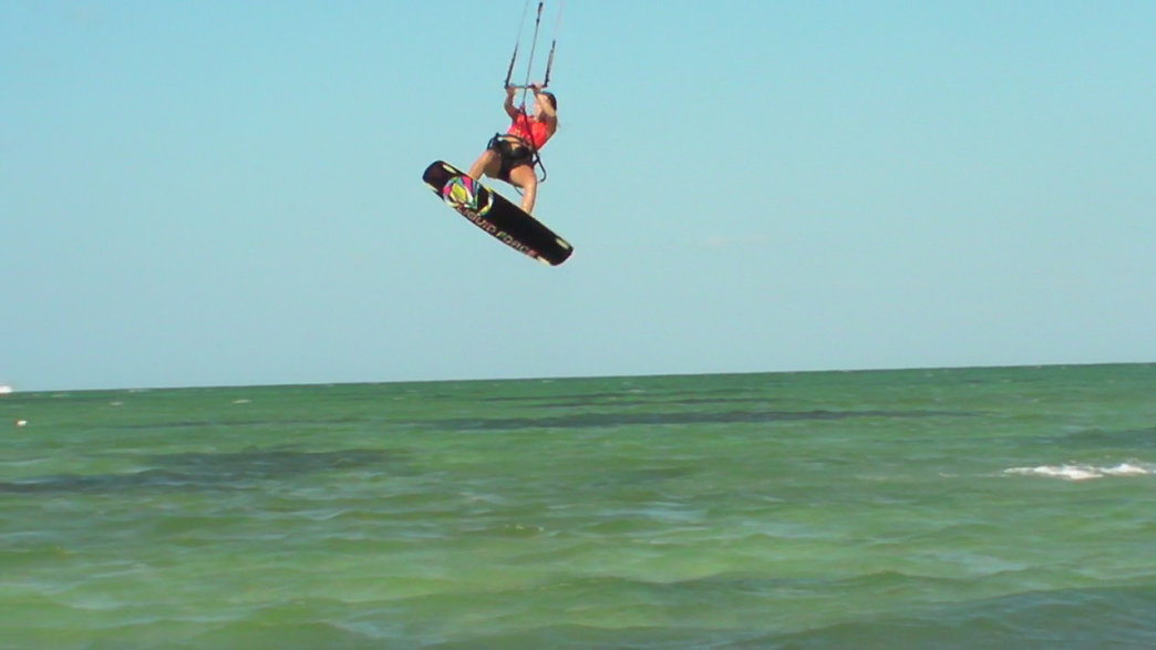 Sponsored Kiteboarder Emily Collins Getting Some Air In Charleston Courtesy Of
