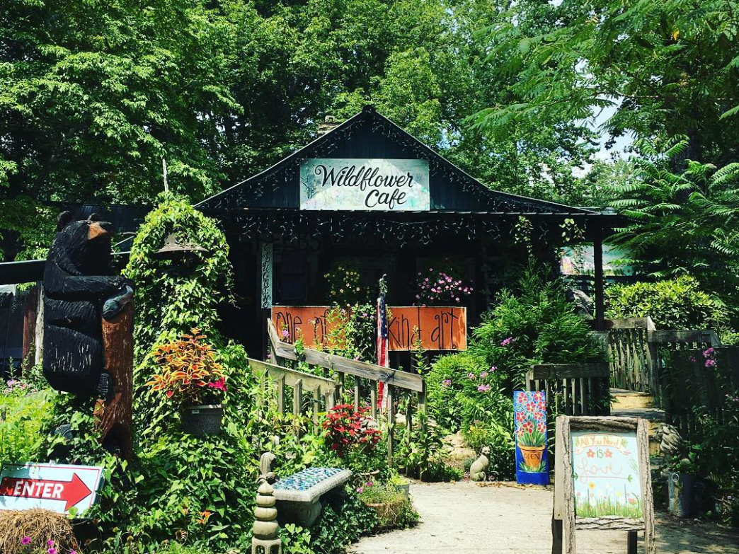 Nestled in greenery, the popular Wildflower Café is a fitting spot for outdoor enthusiasts.