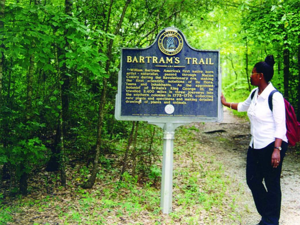 Named for famed botanist William Bartram, the Bartram National Recreation Trail was the first designated National Recreation Trail in Alabama.