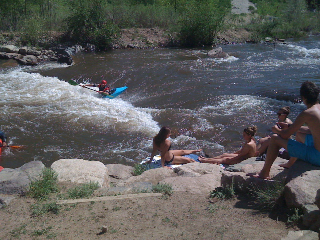 The Clear Creek White Water Park in Golden has great whitewater as well as places to lounge and watch the action.