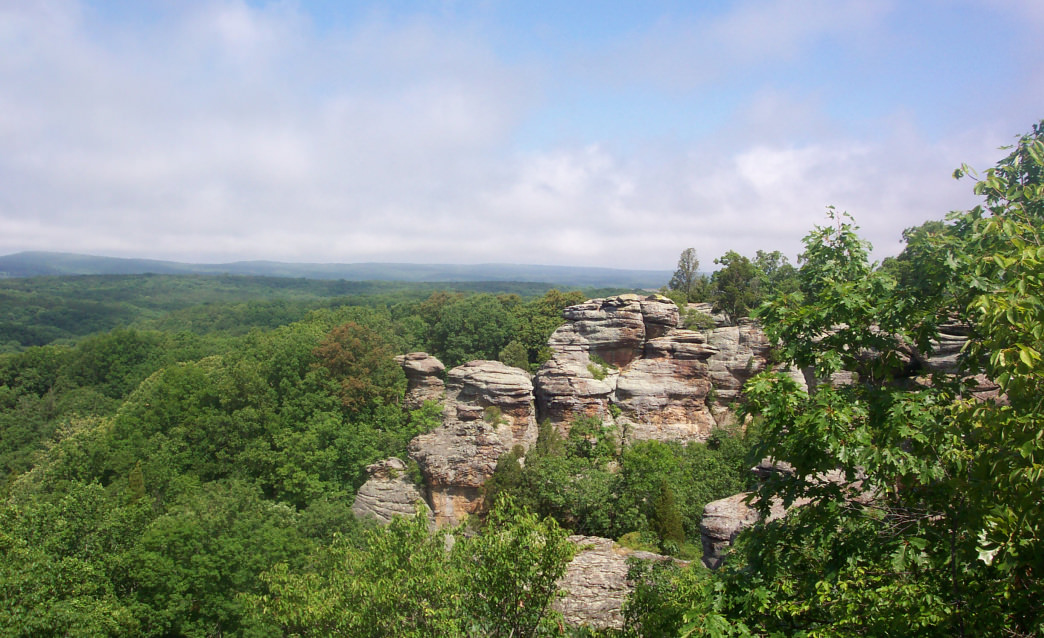 The Garden of the Gods Wilderness in Shawnee National Forest.