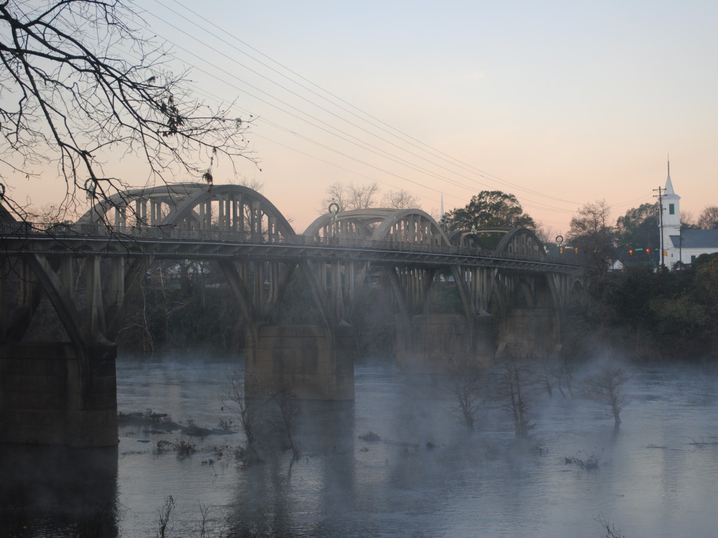 The Coosa River runs through downtown Wetumpka, a small town with lots of outdoor opportunities.