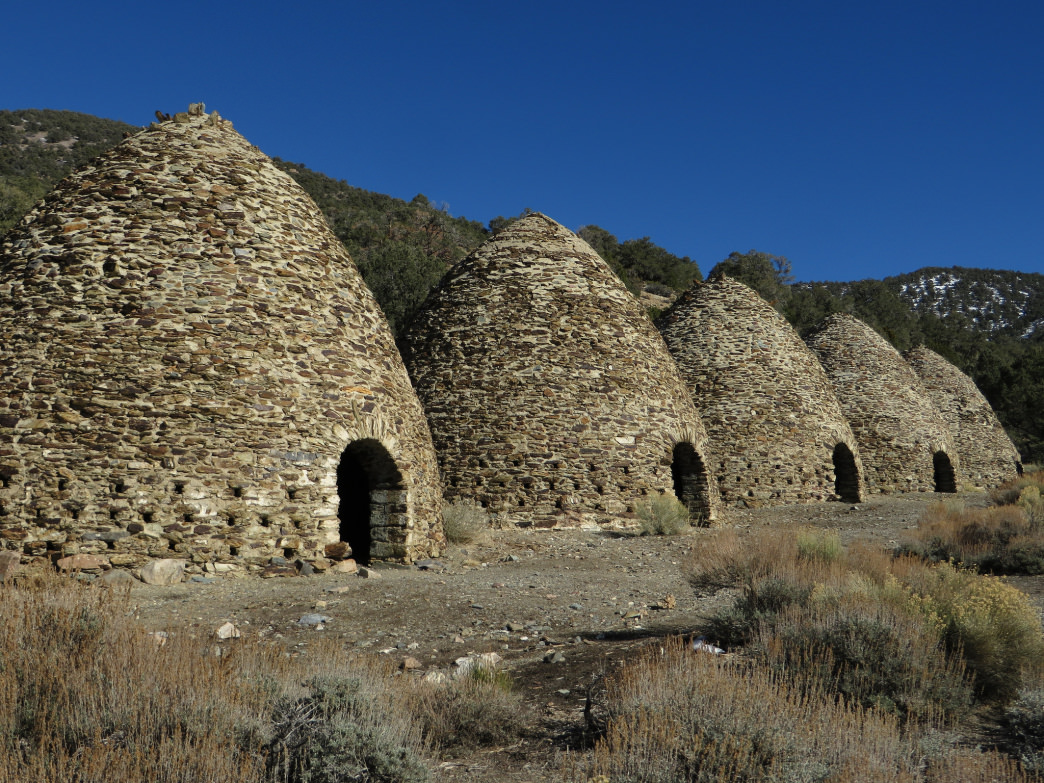 The Wildrose Charcoal Kilns, completed in 1877.