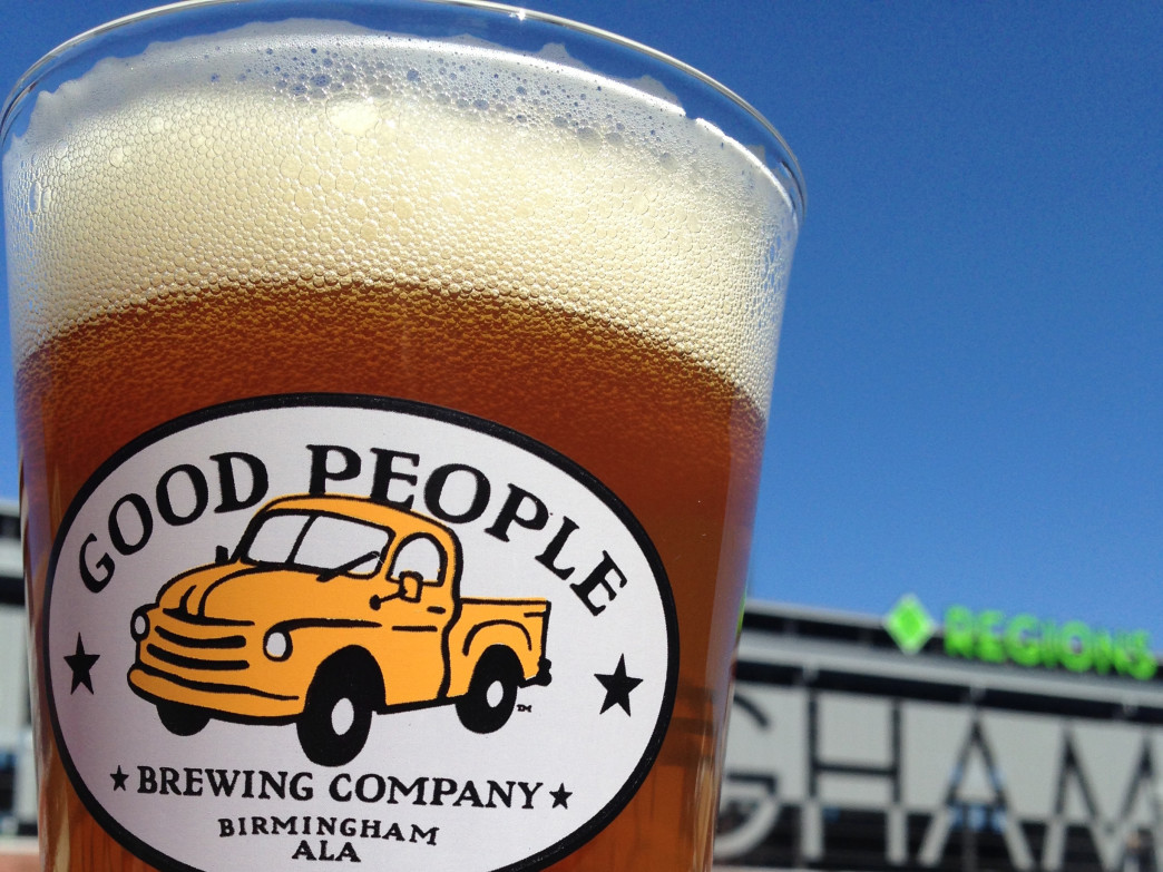 Regions Field makes a fun backdrop for enjoying a good beer at Good People.