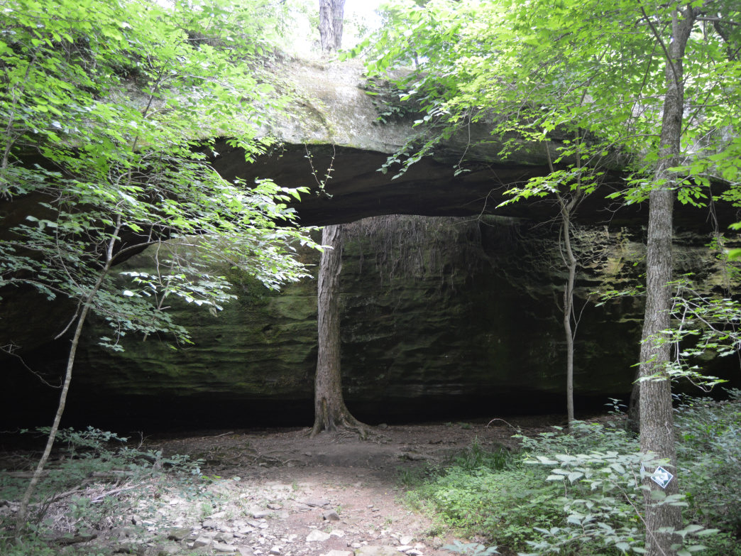 A quick 2.75-mile loop includes Mantle Rock and a portion of the Trail of Tears National Historic Trail.