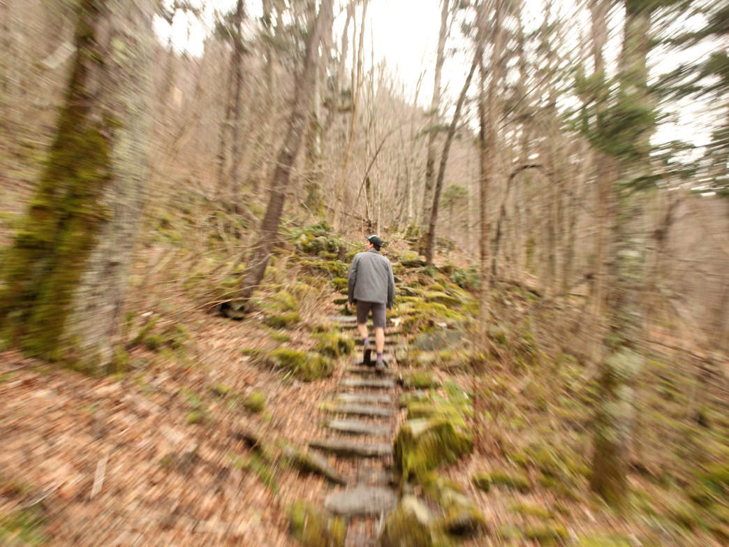 Things can get a little blurry during the Hike-in Hangover.