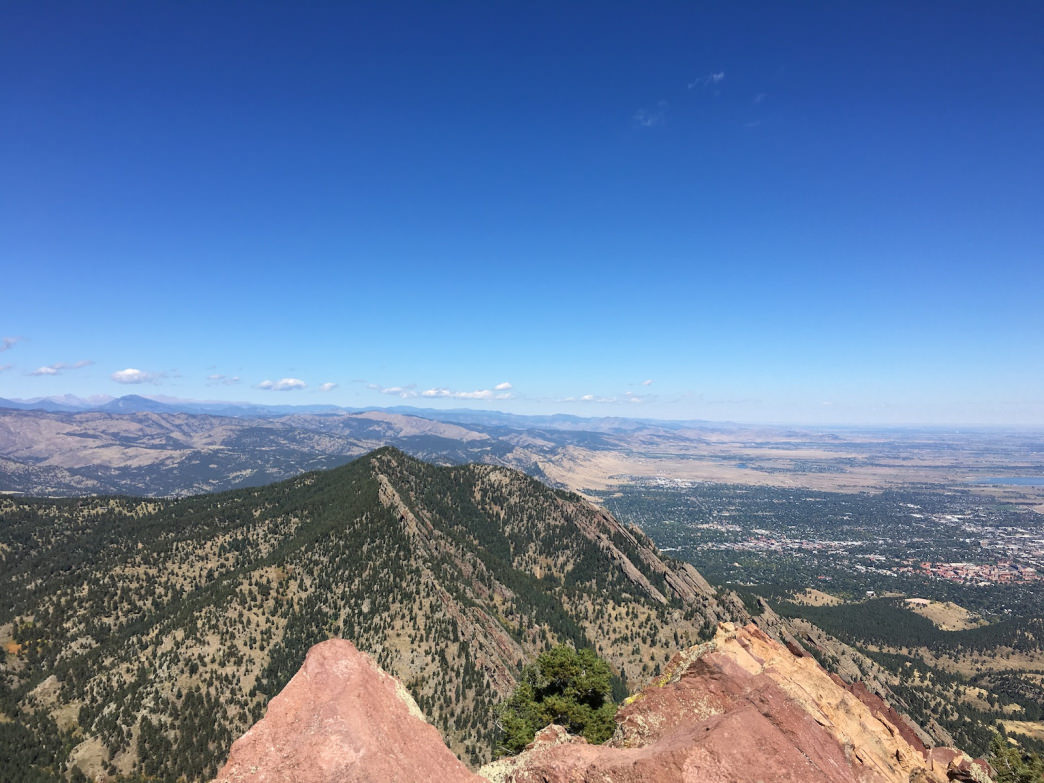Boulder's Skyline Traverse traces the spine of the ridge west of town, topping out on the five highest peaks.