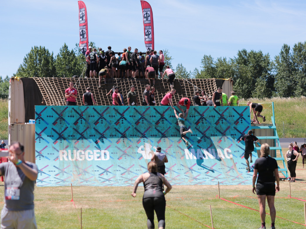 The Rugged Maniacs includes all kinds of crazy obstacles.