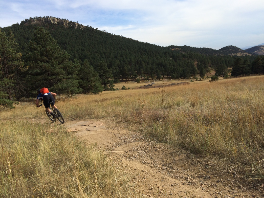 Heil Ranch's trails are fast and flowy, so you can practice cornering at speed.