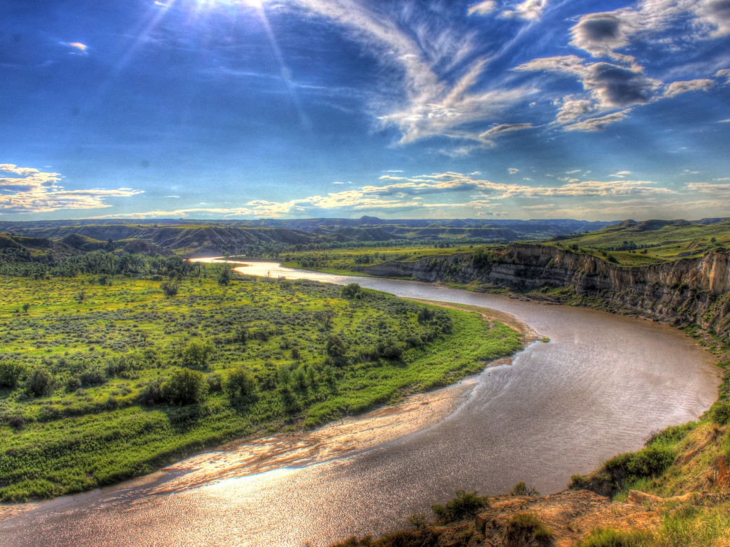 The Little Missouri River in Theodore Roosevelt National Park.