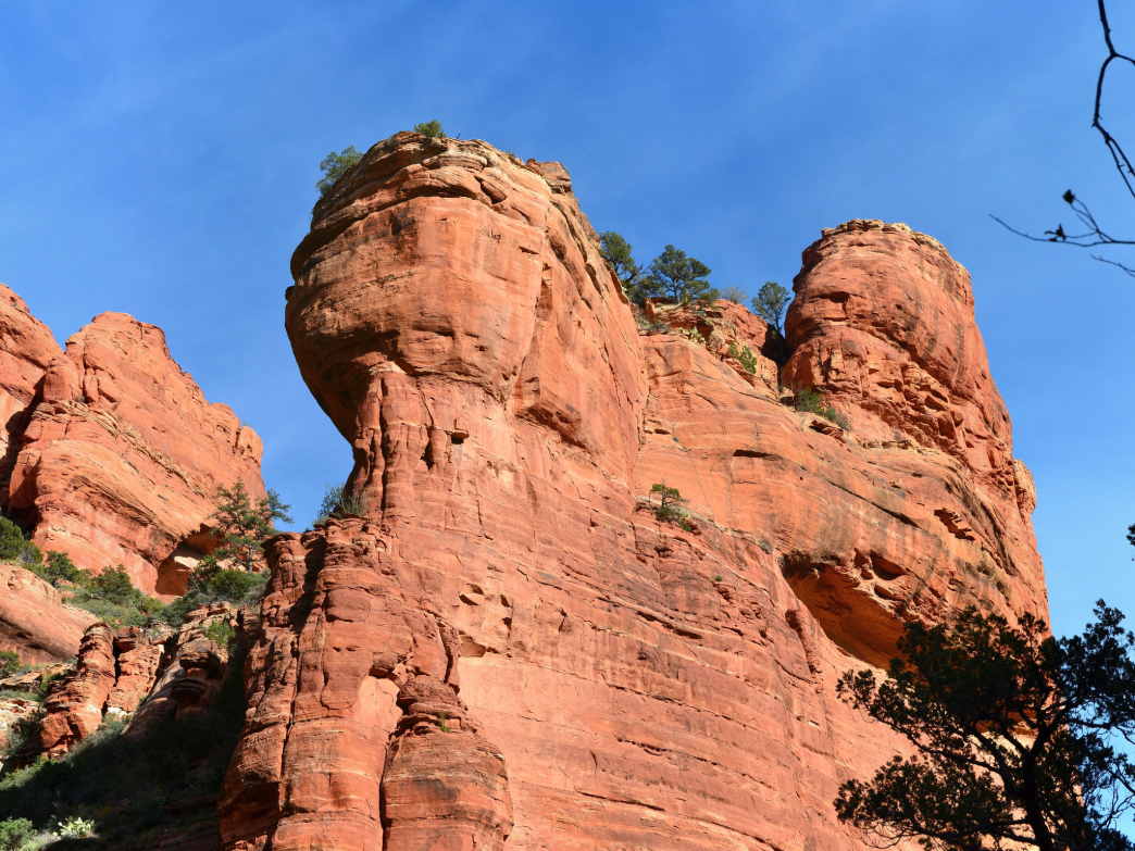 Rock tower in Fay Canyon