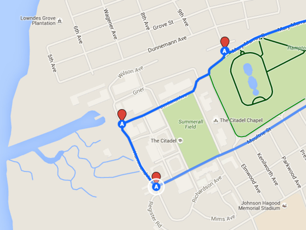 Hampton Park Bike Route