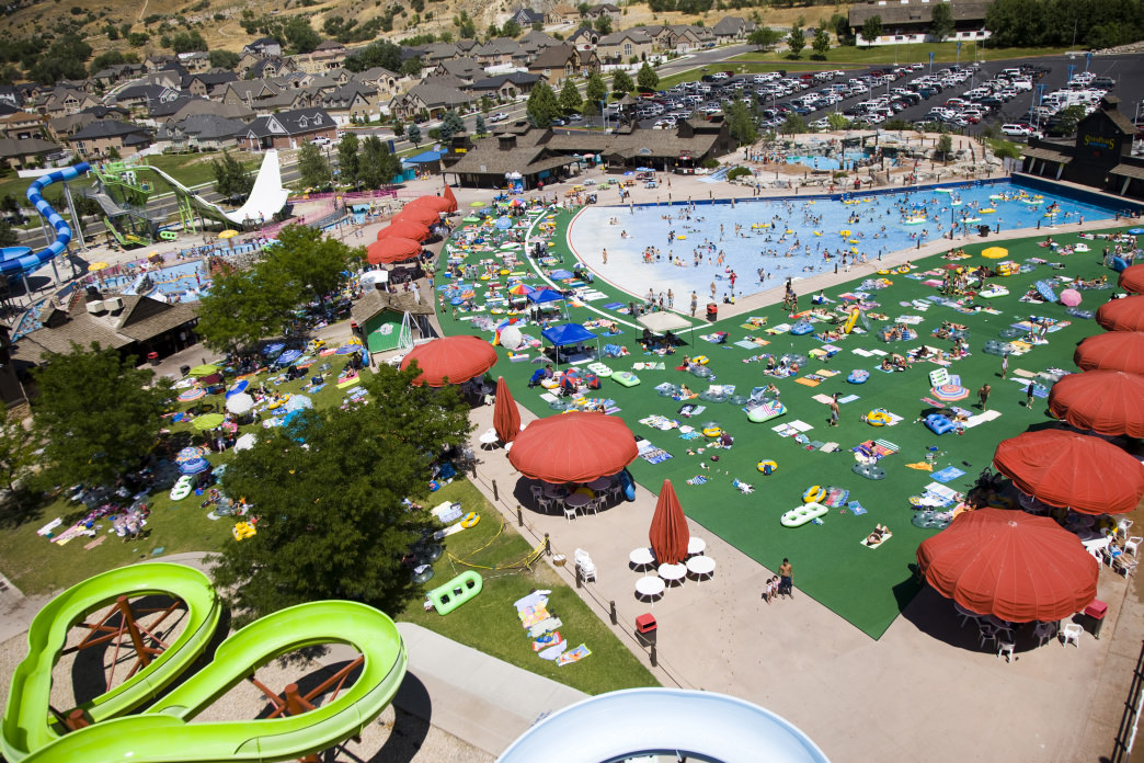 The Seven Peaks Water Park is the largest in Utah and features a wide variety of slides and pools for kids of all ages.