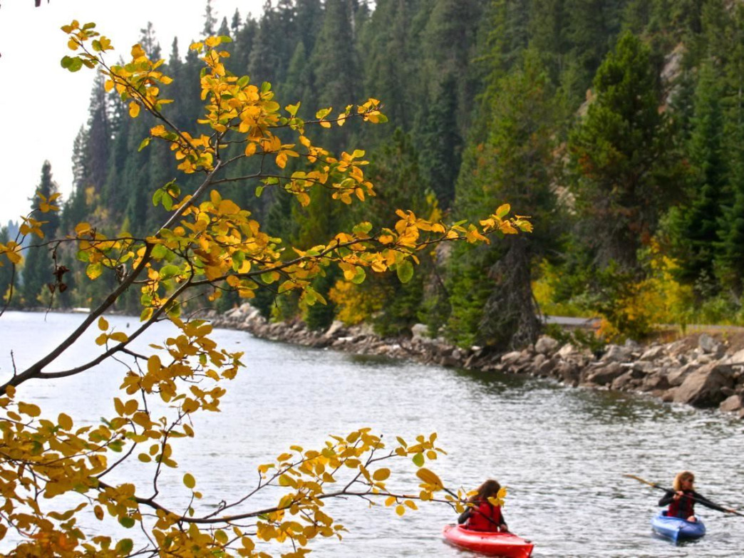 There are so many little coves and places to explore along Payette Lake at McCall, all with hints of fall colors.