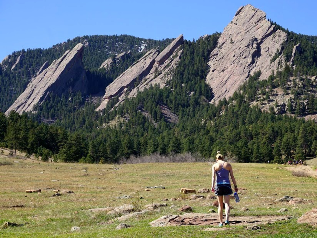 Taking to the trails at the base of the Flatirons
