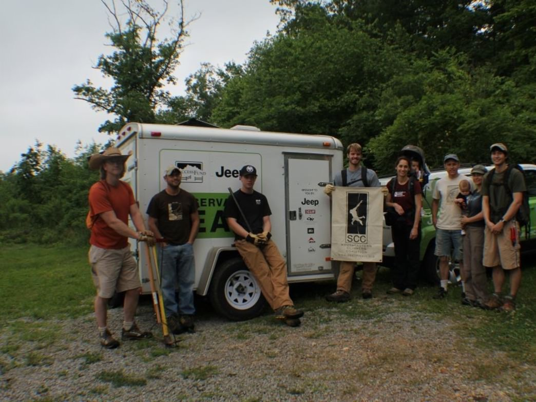 SCC sponsored trail clean up day at Steele, Al