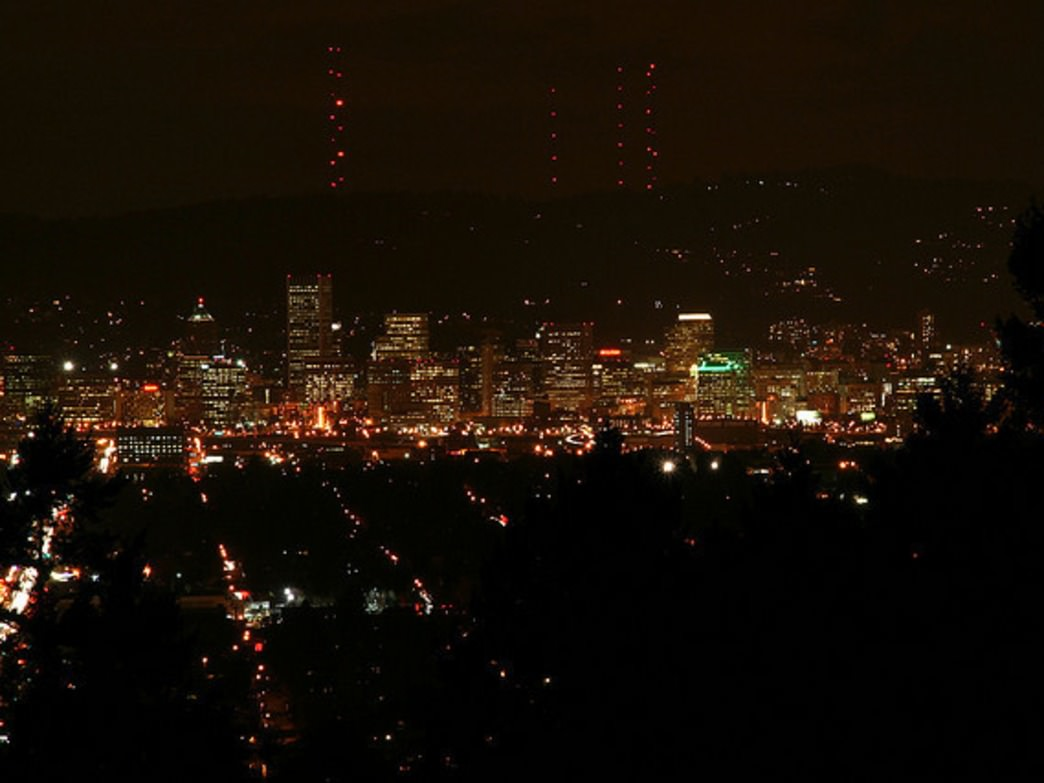 Mount Tabor Park offers stunning views of downtown Portland and the West Hills.