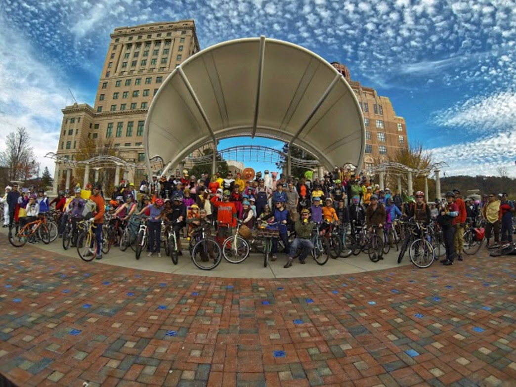 A community ride with Asheville On Bikes