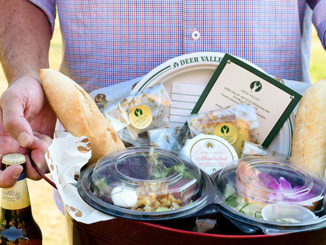 A Deer Valley Gourmet Picnic Basket.