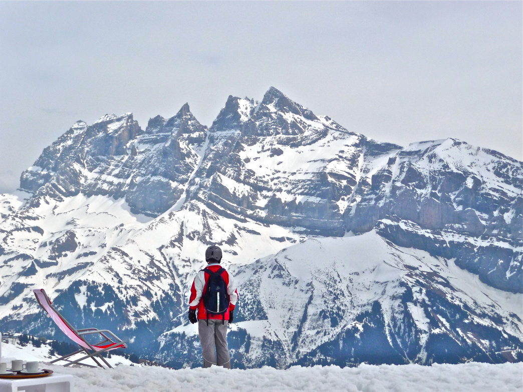 You'll find fewer trees at ski areas in the Alps, as the majority of the slopes are above the treeline.