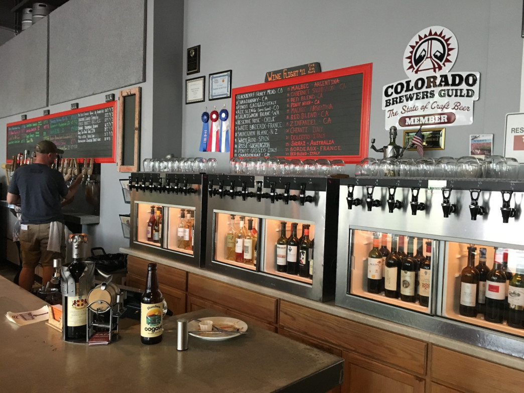 Wine and beer flow freely from scores of taps at Barrels & Bottles.