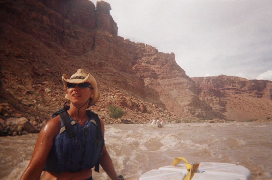 Rafting the Colorado River in Cataract Canyon.