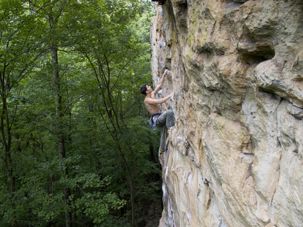 Satisfaction, a 5.12a in Foster Falls, is a solid goal to work towards.