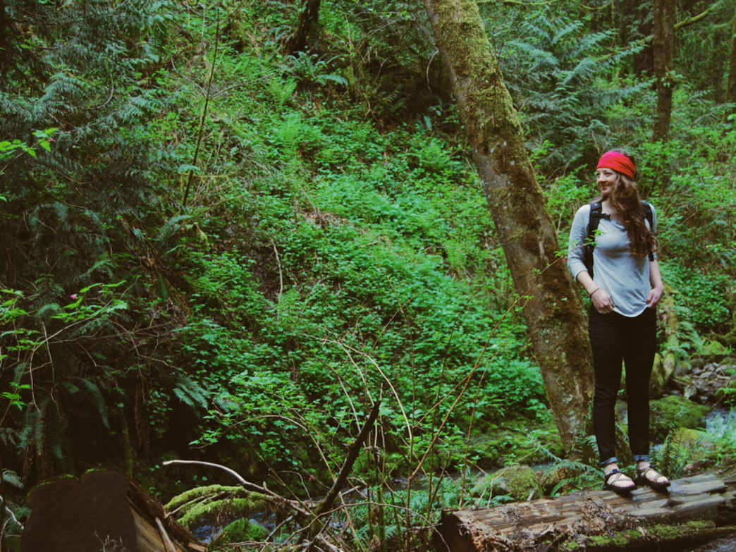 Exploring the lush rainforests of the Columbia River Gorge.