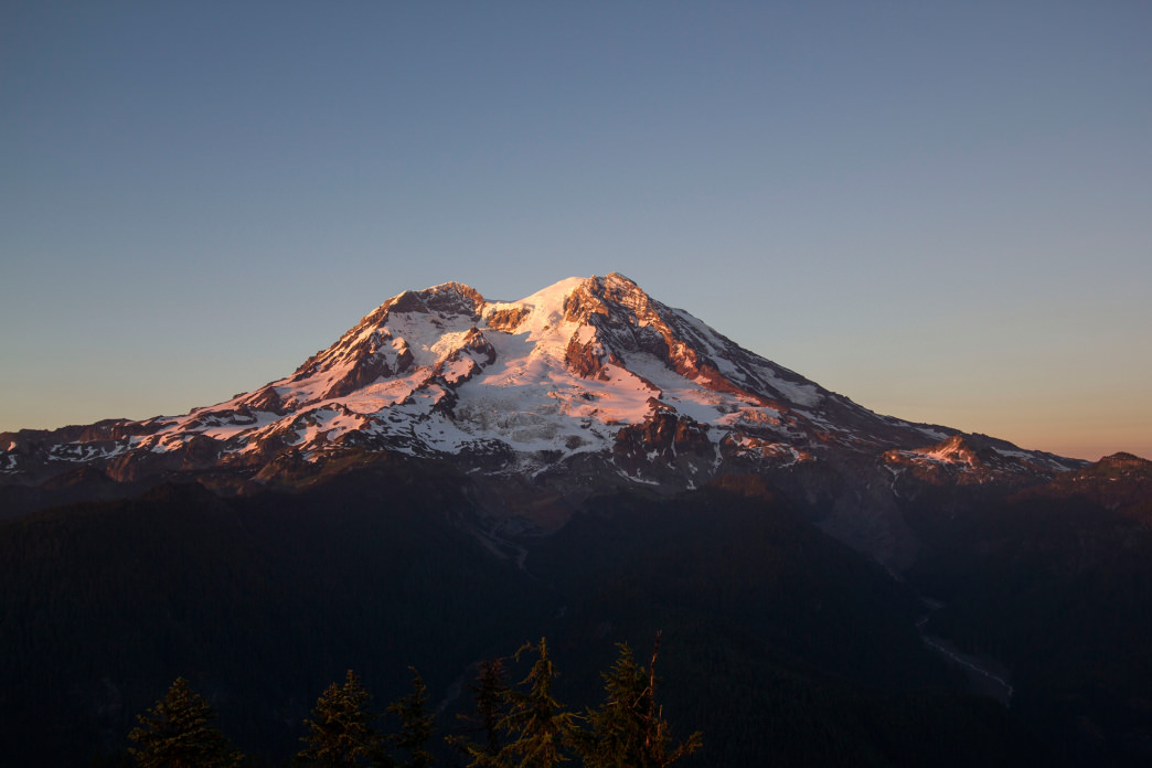 The mighty Mount Rainier.