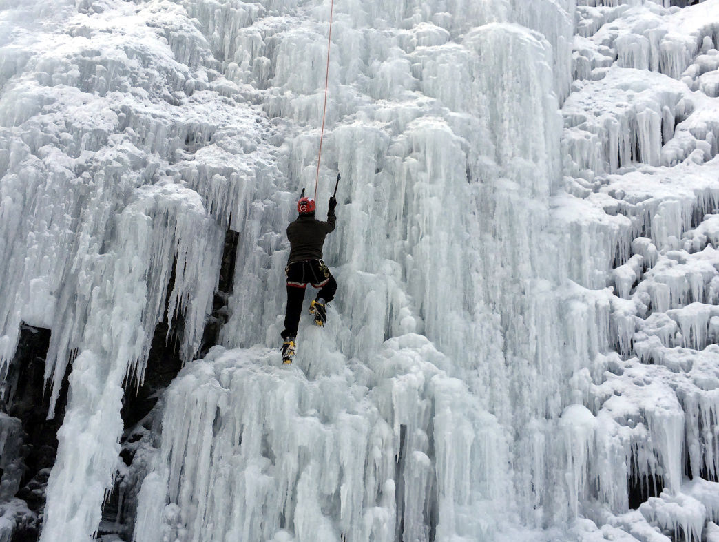The Ouray Ice Park is one of the world's top ice climbing spots, with routes to suit all abilities.