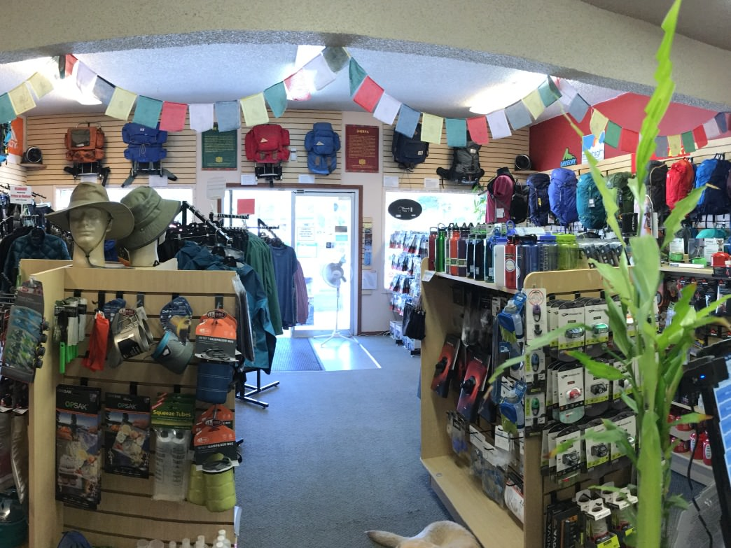 Lake of the Sky Outfitters is a small shop with big selection and big service.