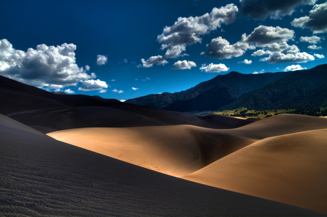 The juxtaposition of sand dunes amid alpine peaks make this national park truly unique.