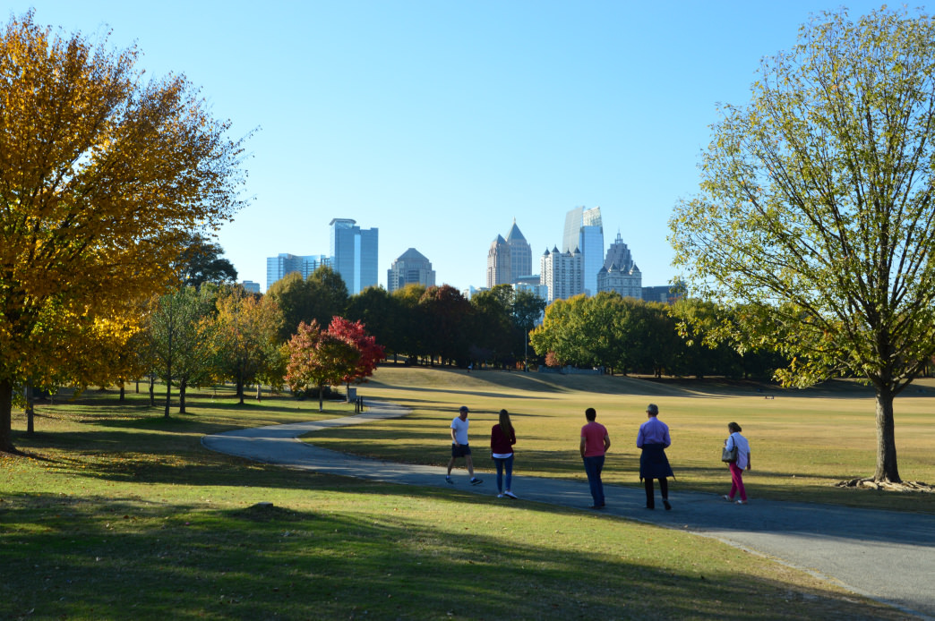 Piedmont Park offers plenty of room for outdoor activities—and features one of the best views of the skyline.