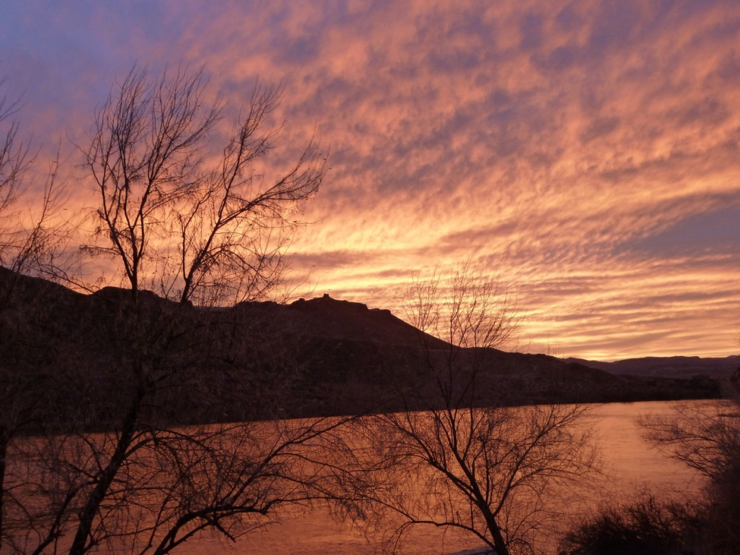 Stick around after hiking the Snake River Canyon so you don't miss the canyon's impressive sunsets.
