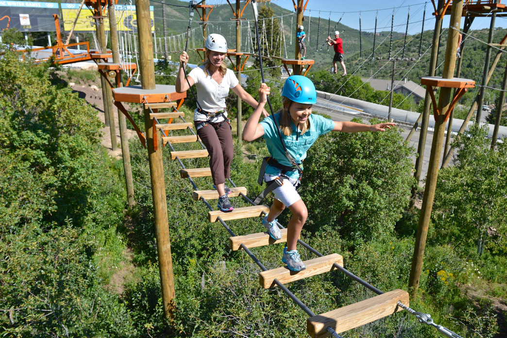 Choose from several different ropes courses at Utah Olympic Park.