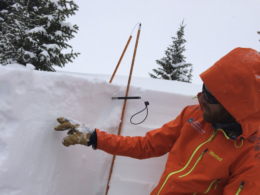During an avalanche safety course, you'll dig snow pits to learn how to identify weak layers that might slide.