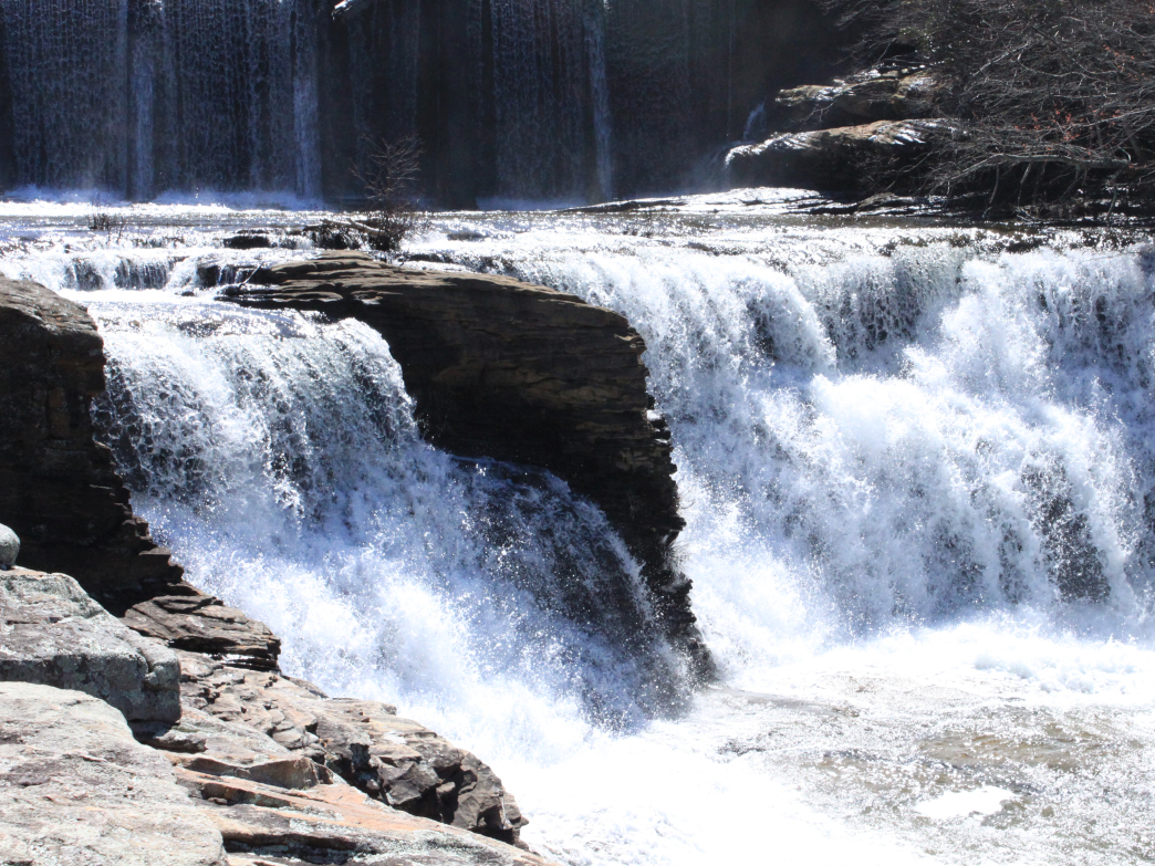 The cascades of DeSoto Falls are breathtaking in the fall.