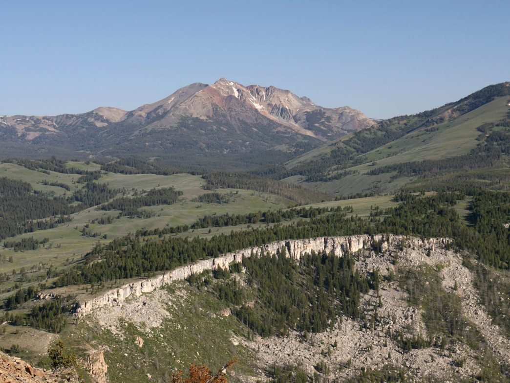 View of Electric Peak from Bunsen Peak Trail