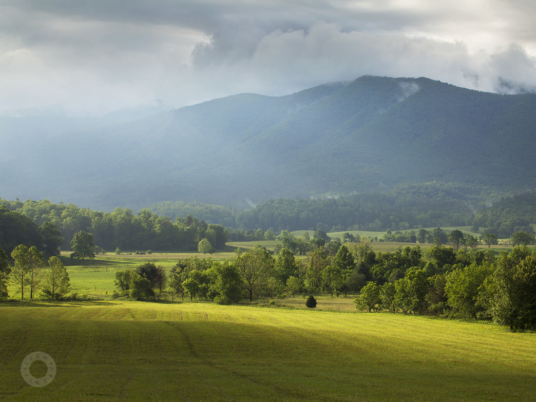 Cades Cove in Great Smoky Mountains National Park,  near Paul's home in Knoxville, TN