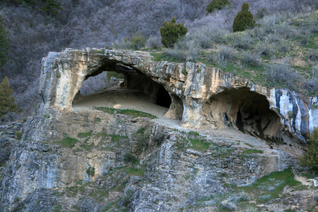 The Wind Caves feature incredible rock formations and a great view of Logan Canyon.