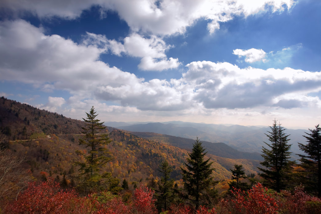 Views from the 6,292-foot Waterrock Knob make the steep climb worthwhile.