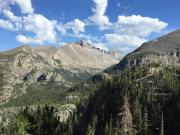 Views of the Rocky Mountains from the trail to Emerald Lake